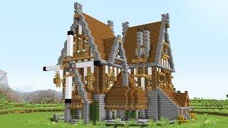 minecraft medieval mansion wooden