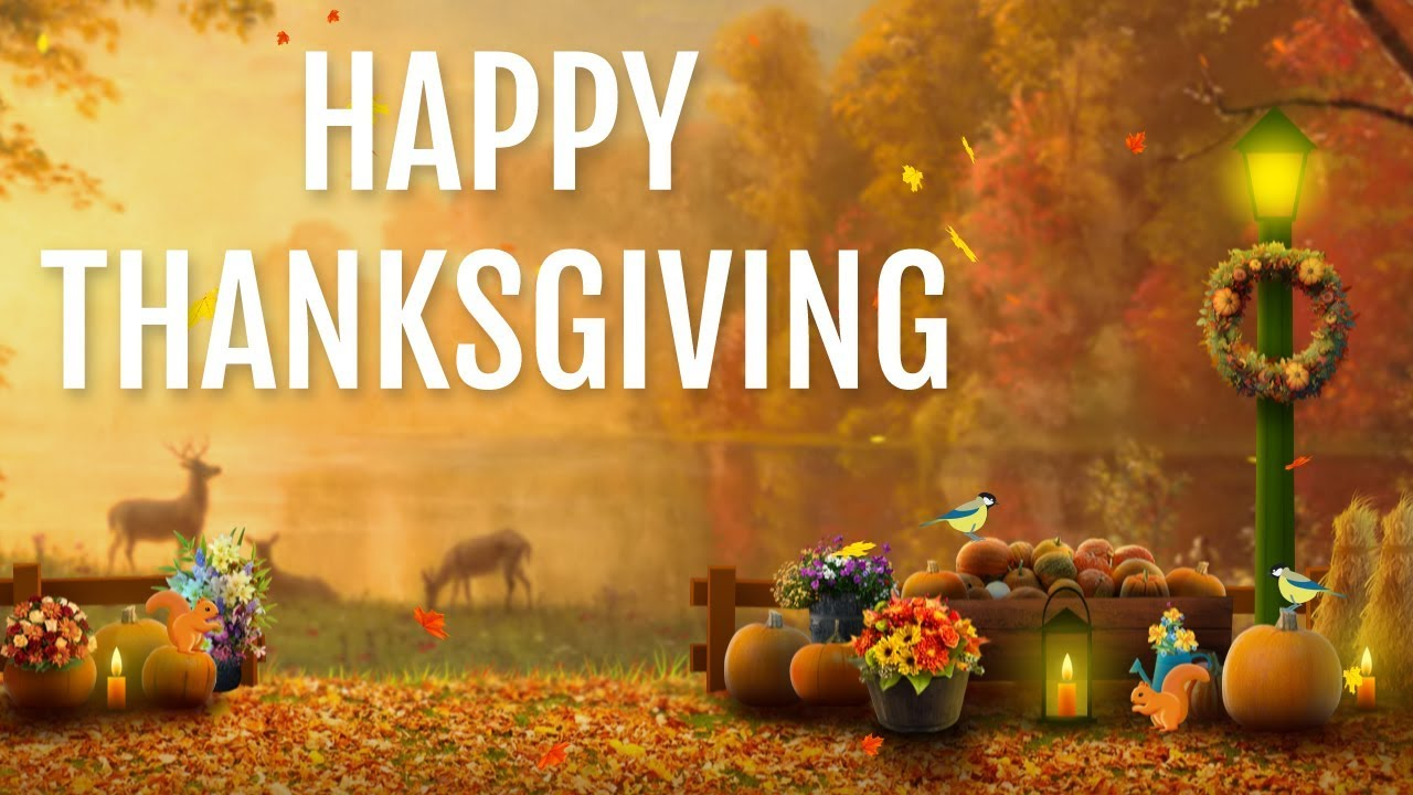 Animated greetings to wish your friends Happy Thanksgiving. Canadian Thanksgiving  greetings - YouTube