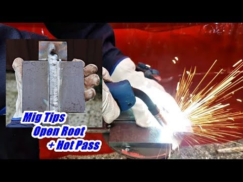 MIG Welding Techniques - 3G Position Open Root +Hot Pass Walking - Technika Spawania MIG-MAG