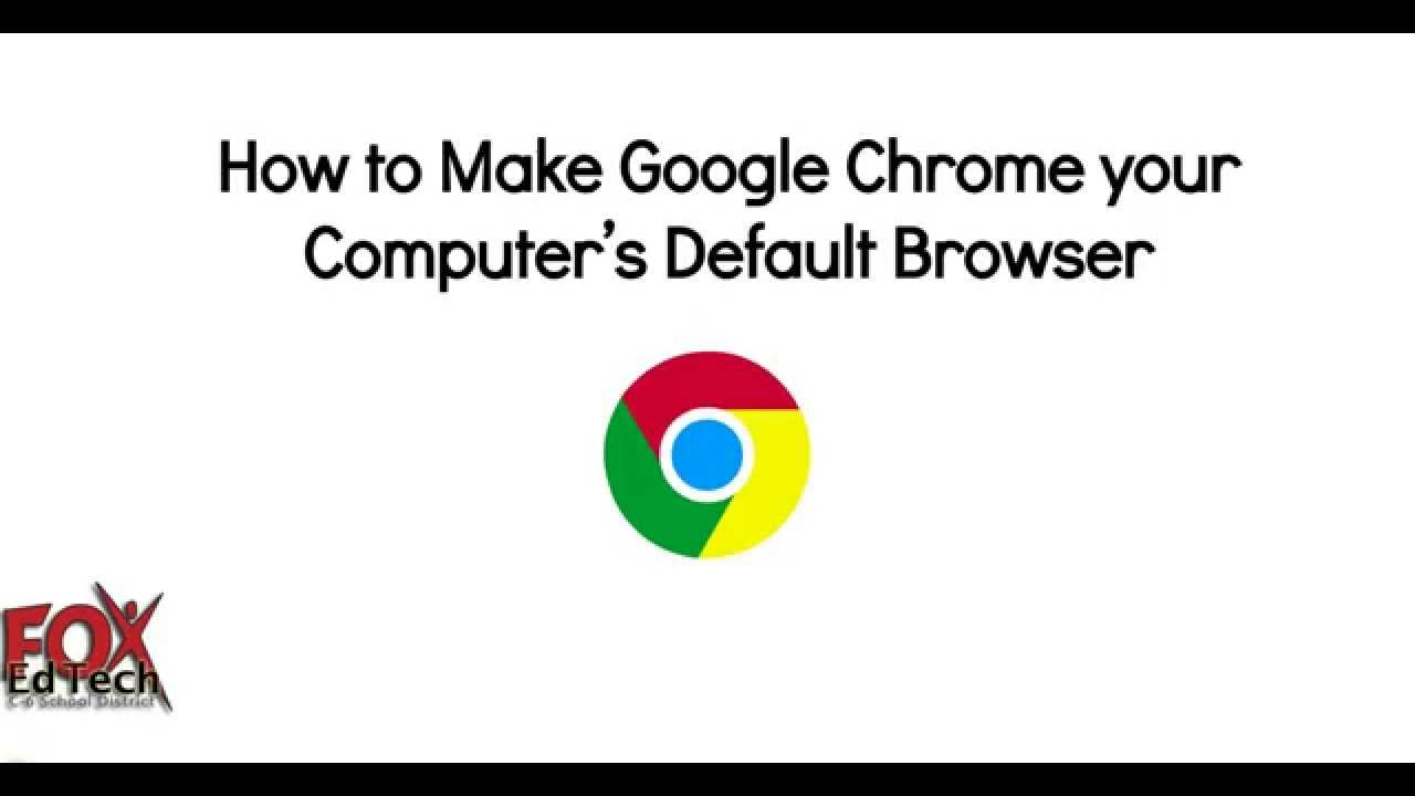 Change your Computer's Default Web Browser to Google ...