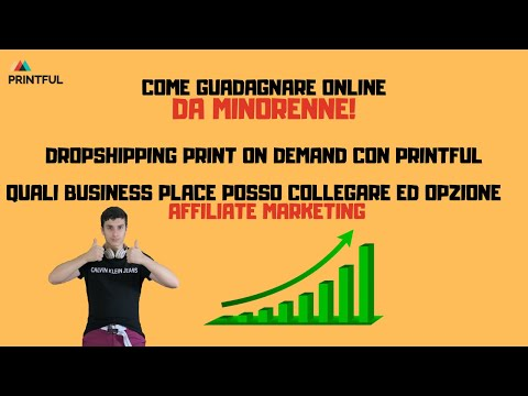 DROPSHIPPING PRINT ON DEMAND CON PRINTFUL: MARKET PLACES COLLEGABILI ED AFFILIATE MARKETING! thumbnail
