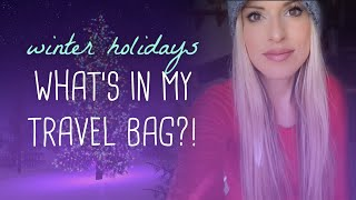 How to pack a carry on for winter travel #winterwonderlandcollab