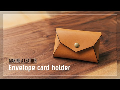 Envelope card holder / 편지봉투 명함지갑 / Leather craft PDF / 가죽공예 패턴 / 바느질 없는 명함카드지갑