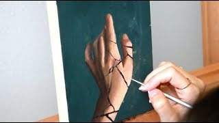 Oil Painting Time Lapse | Cracked Hand Study