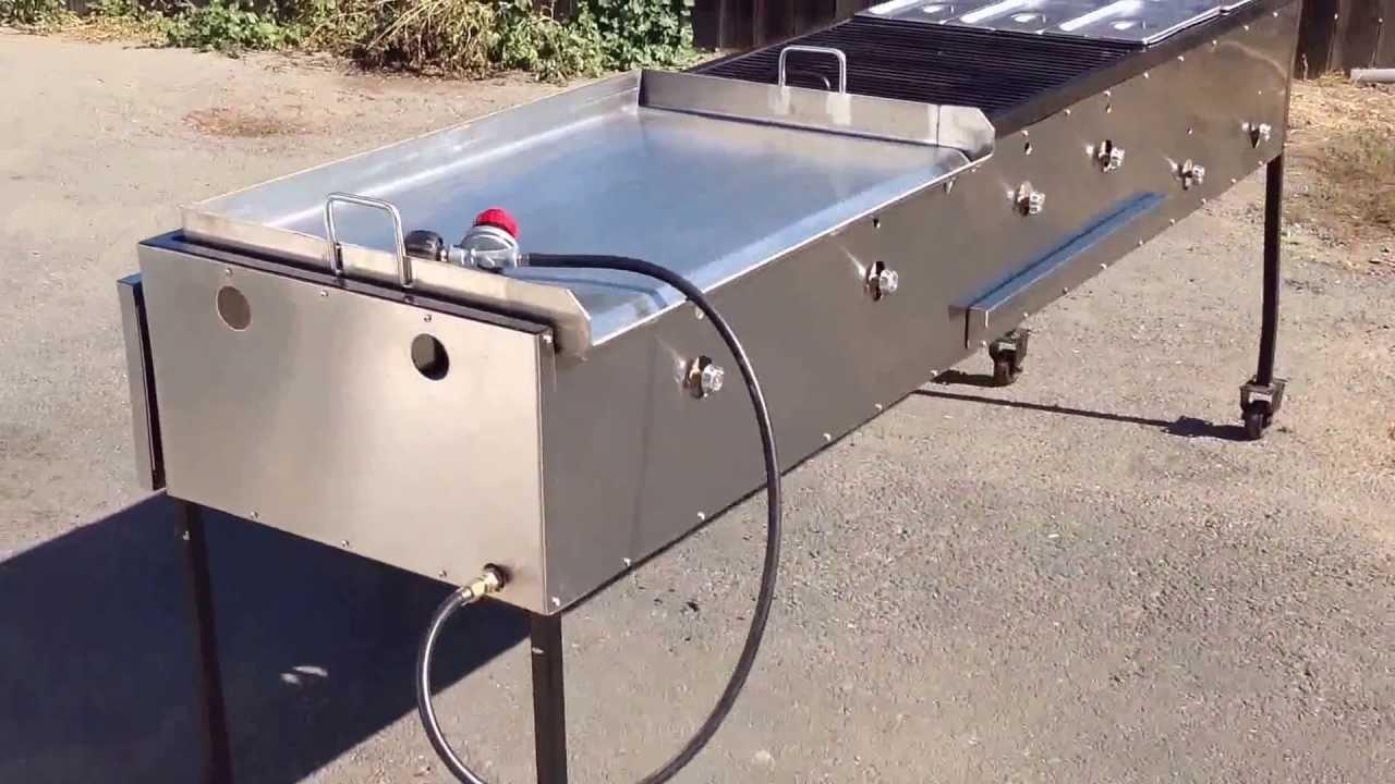 Plancha para tacos con quemador de alta presion taco cart - Parrillas para asar ...