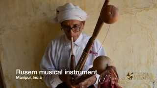 Rusem - tribal musical instrument in Manipur, North East India.