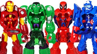 Marvel suits are stolen! Hulk, Spider Man! Attack dinosaurs with super mech armor! - DuDuPopTOY
