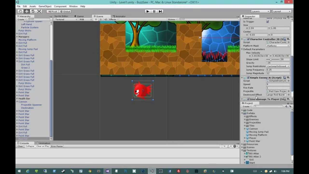 Creating 2D Games in Unity 4 5 #28 - Basic Enemy AI