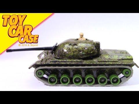 LESNEY Matchbox Battle Kings M48 A2 Tank 1974 Toy Car Case