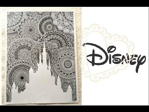 le chteau disney gant en mandala - Dessin Chateau Disney