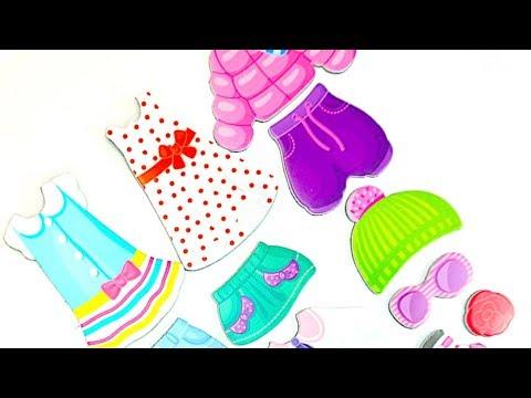 Видео, Детский игровой набор Магнитные Истории. Распаковываем игрушку для детей. Наряды для куклы