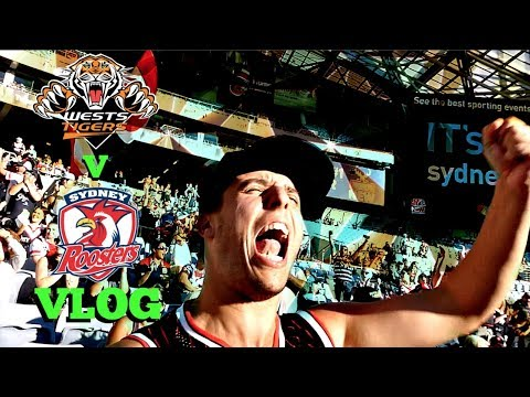 PULSATING FINISH! | West Tigers v Sydney Roosters | Game Day Experience | Vlog
