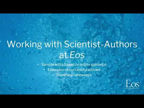 Writing for Eos and a Broad Audience – Part 2