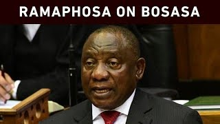 DA leader Mmusi Maimane handed a letter President Cyril Ramaphosa allegedly showing that Bosasa paid R3 million to the ANC. This happened during the president's reply to oral questions in Parliament.