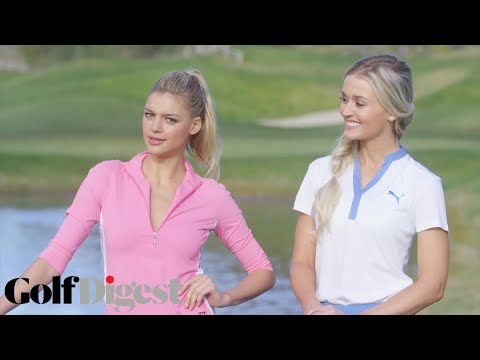 Kelly Rohrbach & Blair O'Neal Skip Golf Balls Over Water  Sexiest Shots in Golf  Golf Digest