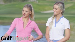 Kelly Rohrbach & Blair O'Neal Skip Golf Balls Over Water | Sexiest Shots in Golf