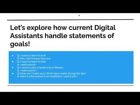 Digital Assistant Throwdown - Stating Goals