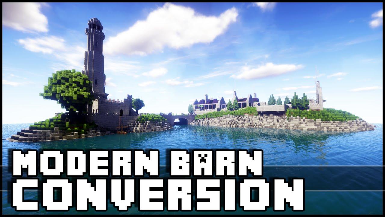 Minecraft - Modern Barn Conversion & Lighthouse - YouTube