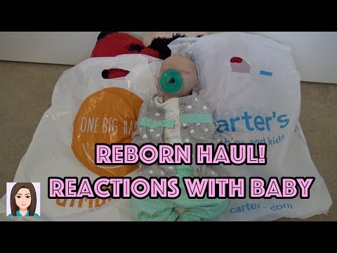 Reborb Gymboree & Carter's Haul! Reactions With Realistic Baby