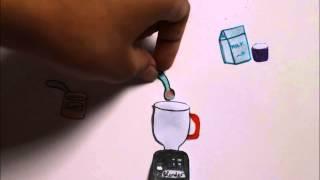 Cara membuat Milkshake Oreo [STOP MOTION]