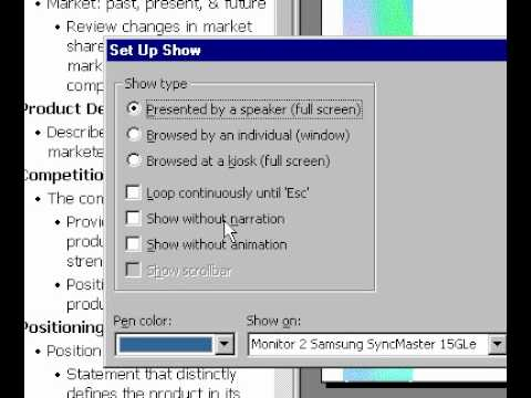 Microsoft Office PowerPoint 2000 Slideshow setup - YouTube