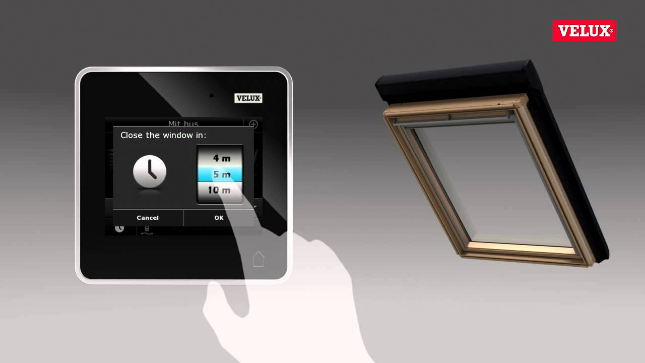 VELUX INTEGRA control pad - YouTube