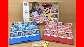 Guess who? Board Game by MB games - Vintage Retro 1979 - Milton Bradley 1980's-1970's toy