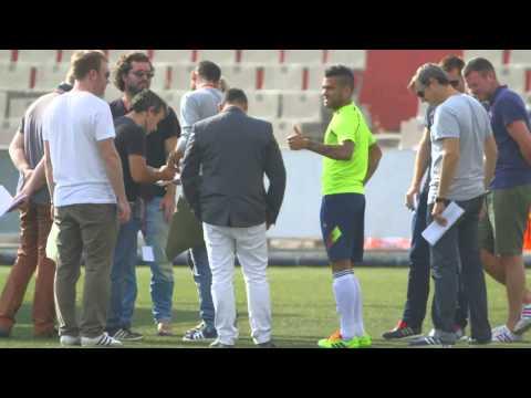 Dani Alves unboxes his Samba Nitrocharge boots    adidas Football