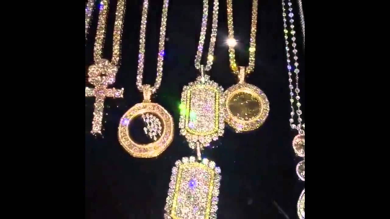 Diamond necklaces floyd mayweather 2015 youtube for Dollar jewelry and more