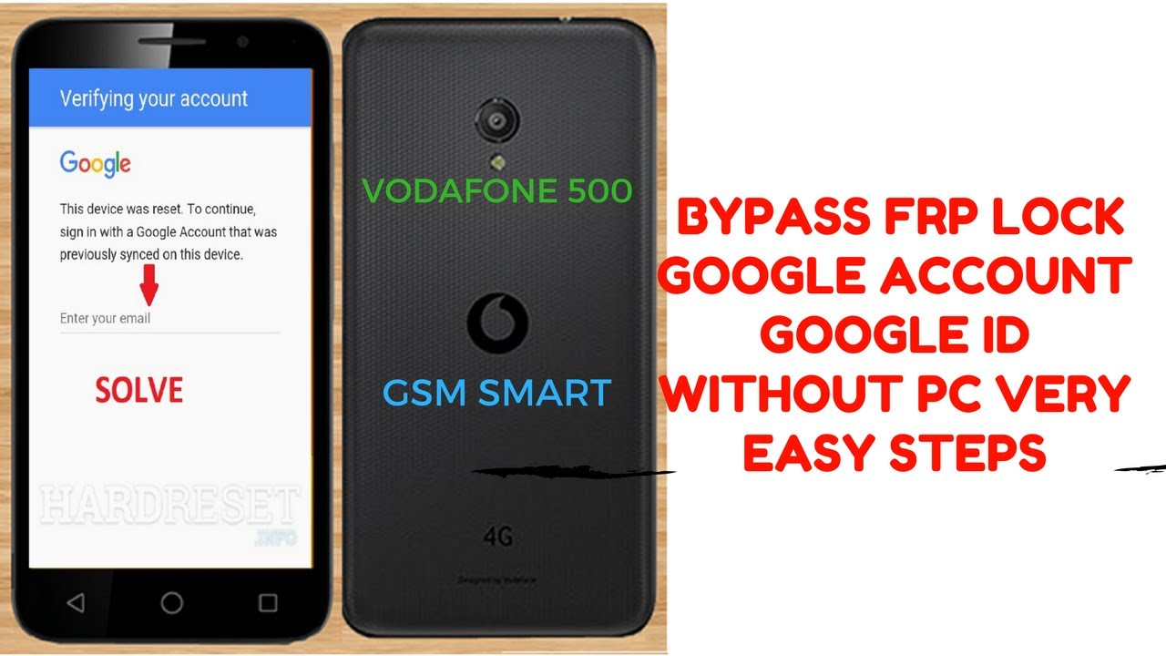 HOW TO BYPASS VODAFONE VFD500 BYPASS GOOGLE ACCOUNT FRP LOCK OR GOOGLE ID  WITH OUT PC by GSM SMART