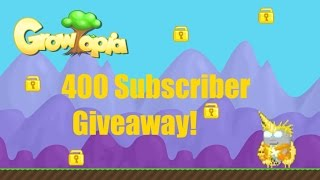 Growtopia - 400 Subscriber Giveaway