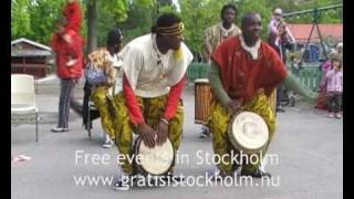 African Drumming & Dancing with Urkraft, Live at Parkleken Blacken, Blackeberg, Stockholm