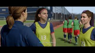NEW! FIFA19 (cutscenes) - Alex Morgan and Kim Hunter in the Journey - USWNT