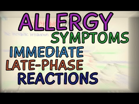 Allergic Reactions – Symptoms, Immediate and Late Phase Reactions – Phases of an Allergic Reaction