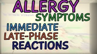 Allergic Reactions - Symptoms, Immediate and Late Phase Reactions - Phases of an Allergic Reaction