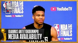 Giannis #NBAFinals Media Availability   July 10th, 2021