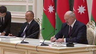 Алиев поблагодарил Беларусь за позицию по Нагорному Карабаху | Переговоры Президентов