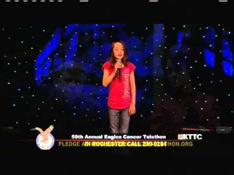 Eagles Cancer Telethon 2013: McKenna Brandt - Blown Away - Carrie Underwood