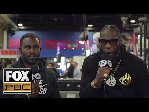 Deontay Wilder gives update on Wilder vs Fury II, his advice to Adrien Broner | PBC ON FOX