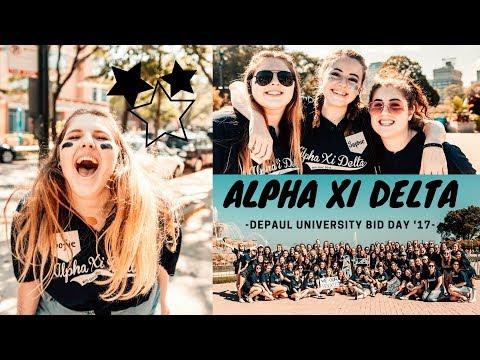 Alpha Xi Delta DePaul University // Bid Day 2017  ◠‿◠✿