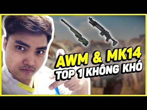 RIP113 CẦM COMBO AWM và MK14 là EZ TOP 1 [PUBG MOBILE]