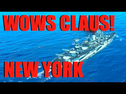 WOWs - Claus Reviews New York Battleship | World of Warships