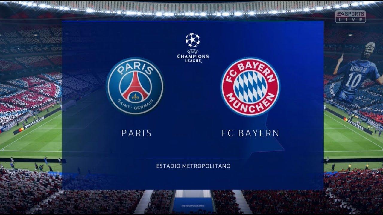 Psg Vs Bayern Munich Xbox One S Full Match Gameplay Fifa 19 Youtube