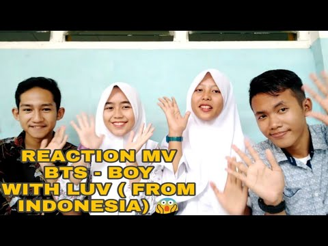 reaction-m/v-bts---boy-with-luv-😍-(from-indonesia)