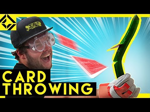 Card Throwing Blows His Mind!
