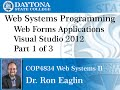Web Programming - Visual Studio 2012 Getting Started Part 1