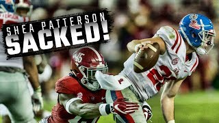 Watch the Alabama defense sack Ole Miss QB Shea Patterson five times
