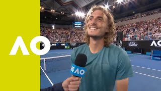 Stefanos Tsitsipas on-court interview (3R) | Australian Open 2019