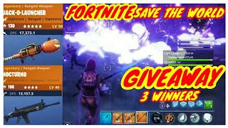 Fortnite Save The World Giveaway*3 WINNERS*Jack-O-Launcher,Nocturno plus others*Comment to Enter