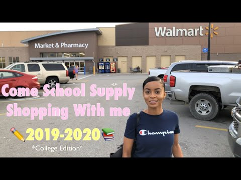BACK TO SCHOOL SUPPLY SHOPPING 2019